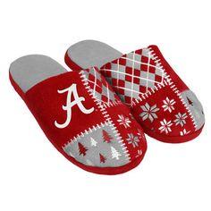 Alabama Crimson Tide Ugly Sweater Slippers