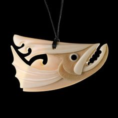 Salmon Pendant by Kerry Kapua Thompson, Māori artist (KX71001)