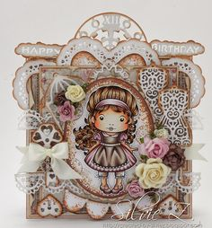 The Ribbon Girl Blog: Two cards from Silvie ....