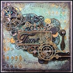 Scrap-Unlimited. I found on Marta Lapkowska (Maremi's Small Art) - Inspirational Mixed Media on PINTREST Board.