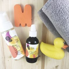 Natural bath products for bebes.
