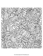 Advanced Coloring Pages For Adults Autumn