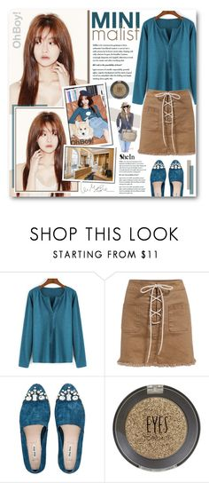"""""""Yeon Soo"""" by warna ❤ liked on Polyvore featuring Miu Miu and Topshop"""