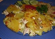 Smetanové brambory s kuřecím masem Potato Dishes, Potato Salad, Potatoes, Chicken, Ethnic Recipes, Food, Diet, Potato, Essen