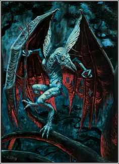 An eldrich horror from the pages of H.P Lovecraft. I've long been a fan of the stories and the Cthulhu Mythos. This was painted in gouache on board. Cthulhu, Aliens, Sience Fiction, Lovecraftian Horror, Hp Lovecraft, Fairytale Fantasies, Occult, Art Boards, Mythology