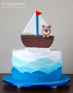 bolo decorado ursinho marinheiro