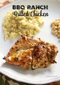 BBQ Ranch Grilled Chicken Recipe - chicken marinated in Ranch dressing, Worcestershire, BBQ seasoning, oil and vinegar - grill for the most amazing chicken! We always double the recipe so we have leftovers for wraps and salads.