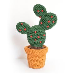 Cactus Amigurumi – Prickly Pear / Figue de Barbarie Crochet pattern by FROGandTOAD Créations – Home living color wall treatment kitchen design Cactus En Crochet, Crochet Flowers, Cute Crochet, Crochet Toys, Amigurumi Patterns, Crochet Patterns, Crochet Mignon, Crochet Patron, Christmas Knitting Patterns