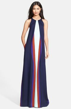 Diane von Furstenberg 'Jordan' Print Stretch Silk Maxi Dress