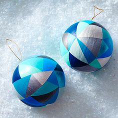 Geometric DIY Ornaments Clinton Kelly