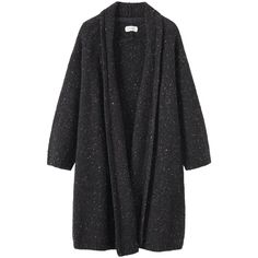 Toast Donegal Knitted Wool Coat ($300) ❤ liked on Polyvore featuring outerwear, coats, long coat, pattern coat, long sleeve coat, print coat and wool knit coat