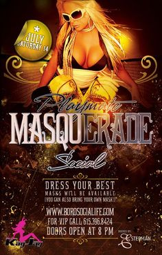 SOCIAL'S Playmate Masquerade w/ DJ Kay Jay - Saturday July 14th, 2012