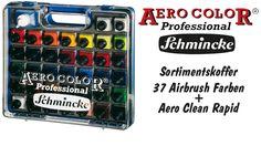 Schmincke - Sortimentskoffer - AERO COLOR Professional-Airbrushfarben - http://im-shop-kaufen.com/magazin/schmincke-sortmentskoffer/
