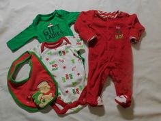 c9222bd502 Details about Newborn Christmas Onsies