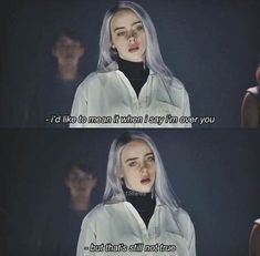 Best Billie Eilish Quotes That Will Flex Human's MindShe is the young girl and began her career with singing. Billie Eilish quotes gained lots of popularity Song Words, Love Songs Lyrics, Song Quotes, New Quotes, Girl Quotes, Music Lyrics, Qoutes, Sad Movie Quotes, Lyrics Deep