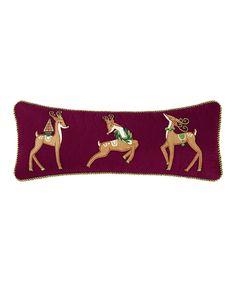 Merry & Bright Deer Pillow