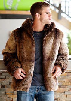 Puma Faux Fur Men's Couture Hooded Parka