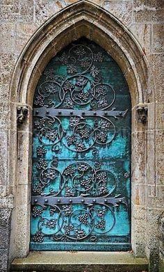 Gothic Door With Iron Mounting At The Neo-Gothic St. Ottilien Archabbey,near Landsberg,Bavaria,Germany,Europe # doors # windows Cool Doors, Unique Doors, Door Knockers, Door Knobs, Beautiful Architecture, Architecture Details, Gothic Architecture, When One Door Closes, Door Gate