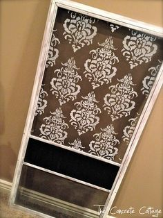 What a fun idea for updating an old screen door!