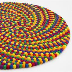 Det flotte Rainbow Spiral kugletæppe - www.bajar.dk