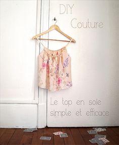 Crafty Bitches - Blog DIY, Couture, Déco, Vintage: DIY Couture : Un top en soie simple et efficace (du 34 au 44)