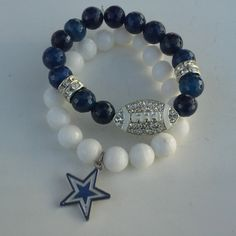 Dallas Cowboys Charm Bracelet by FUNK2011 on Etsy, $17.95