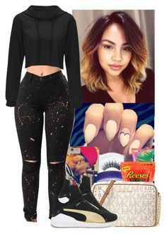 A fashion look from May 2017 featuring Puma sneakers and MICHAEL Michael Kors shoulder bags. Browse and shop related looks. Swag Outfits, Dance Outfits, Outfits For Teens, Casual Outfits, Cute Outfits, Fashion Outfits, Puma Outfit, Outfit Goals, Outfit Ideas
