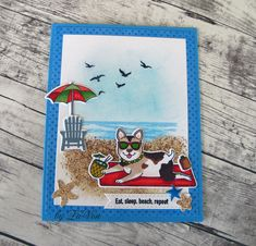 The card I am sharing today was made using the June My Monthly Hero Kit and an add on set to create a fun beach scene.  I think this is a pe...