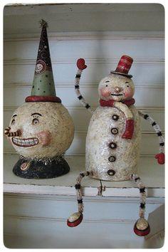paper mache snowman for sale - Google Search