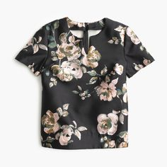 Collection silk-wool top in painterly floral : tops   J.Crew
