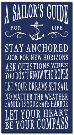 A sailor's guide a guide for sailors beach house sign sign for your boat