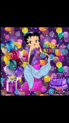 Betty Boop Wishes Happy Birthday Greetings, Happy Birthday Me, Birthday Bash, Birthday Wishes, Girl Birthday, Birthday Cards, Birthday Stuff, Birthday Emoticons, Sweet Betty