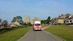 Arriving at Bolton Castle