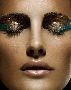 Pro tip: Apply glitter to the center of your eyelid using a wet brush to keep it from falling all over your face.