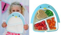 Super cute new toddler plate - uses suction to keep it on the table. (Hopefully.)
