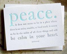 peace... peace... peace...