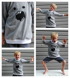 Boy, Oh Boy, Oh Boy Crafts: Sewing For Kindergarten: Raglan Sweatshirt (Free Sewing Pattern) #sewingforkindergarten