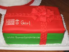 We love this girl shoe box cake created by an Operation Christmas Child volunteer!