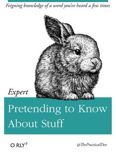 Expert Pretending to Know About Stuff — Feigning knowledge of a word you've heard a few times