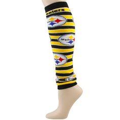 0ad6162ac Pittsburgh Steelers Ladies Black-Gold IQ Striped Leg Warmers