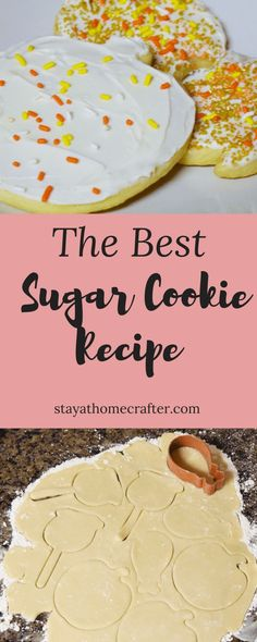 Quick and easy sugar cookies! This recipe makes the best easy cutout sugar cookies, perfect for any occasion, especially the holiday season! Sugar Cookie Recipe Easy, Easy Sugar Cookies, Easy Desserts, Dessert Recipes, Dessert Ideas, Perfect Cookie, Holiday Recipes, The Best, Desert Recipes