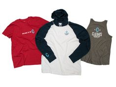 Clegg's Harbor Inn branded staff uniforms present a professional yet casual look