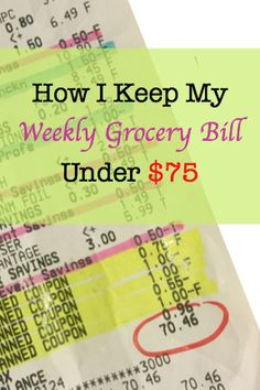 Cutting Costs at the Grocery Store: How I Feed My Family of 3 for Under $75 a Week   alsoknownasmama.com