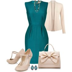Smart Dress Outfit, created by mozeemo on Polyvore