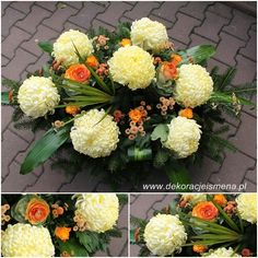 Źródło internet Sympathy Flowers, Funeral Flowers, Arte Floral, Ikebana, Special Day, Floral Arrangements, November, Church Flowers, Garden