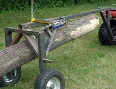 ATV Log Moving Arch, by J. Could use the gator! Metal Projects, Welding Projects, Log Trailer, Trailer Plans, Bandsaw Mill, Log Carrier, Lumber Mill, Wood Mill, Chainsaw Mill