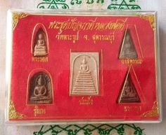 OLD Benjapakee set top 5 Thai Buddha Powerful Amulet miracle Genuine Collection