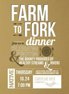 Farm to Fork Dinner Invite for social media and to hand out at the Market on Saturdays