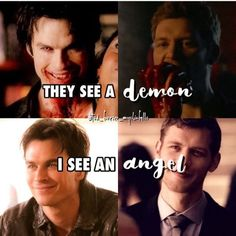 - 'They see a demon😈, I see an angel.😇' Q: what's your favorite tvd/to villain? Klaus From Vampire Diaries, Vampire Diaries Poster, Vampire Diaries Wallpaper, Vampire Diaries Quotes, Vampire Diaries The Originals, Vampire Shows, Vampire Daries, Stefan Salvatore, Hello Brother