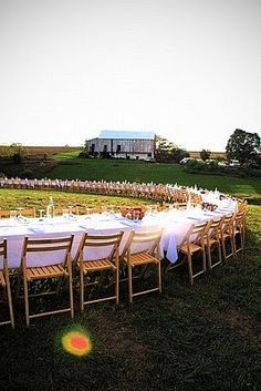 """How incredible is this?  Outstanding in the Field """"celebrates the farmer, right on the farm.""""  These open air feasts take place at ranches, orchards, and vineyards.  Renowned and local chefs collaborate with farmers to bring you a massive feast that honors local produce and the people who farm it."""